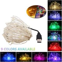 2/5/10M USB Led String Lights Bulb Outdoor Waterproof Garlands Festoon Led Fairy Decorations For New Year Christmas Tree Lights