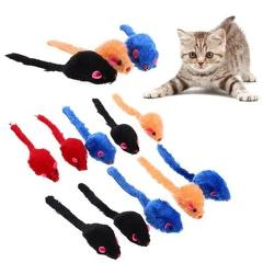 10pcs/lot Mini Colorful Cat Toys Plush False Mouse Toys for Cats Kitten Animal Funny Playing Pet Cat Products Cat supplies