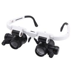 Wearing Magnifier 8/15/23X with LED Lamp Magnifying Glass Jewelry Monocle Appraisal Magnifier Coin Stamps Loupe