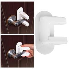 Door Lever Handles Child Door Lever Lock Safety Proof Doors Adhesive Lever Handle Baby Safety Lock Compatible Standard 3M
